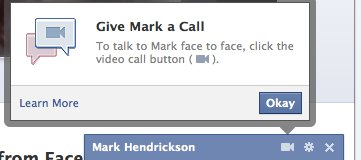 Facebook announces video calling, powered by Skype